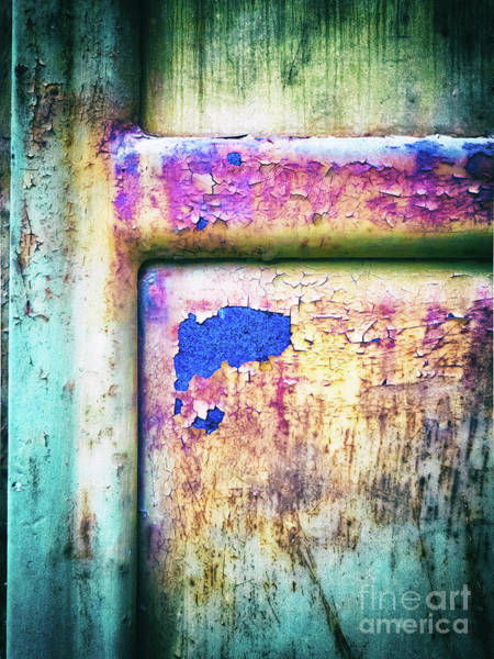 Photograph - Blue In Iron Door by Silvia Ganora