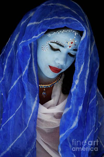 Photograph - Blue Indian Girl by Tim Gainey