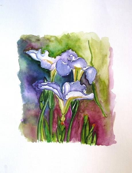 Ir Painting - Blue Iris by Luciana Toma