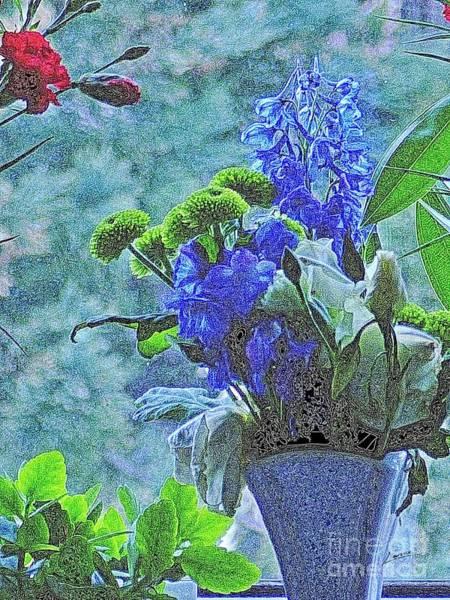 Digital Art - Blue Is The Colour by Lance Sheridan-Peel