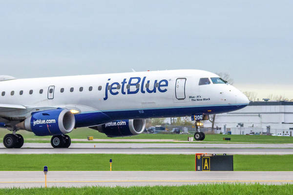 Jetblue Wall Art - Photograph - Blue - It's The New Black by Guy Whiteley