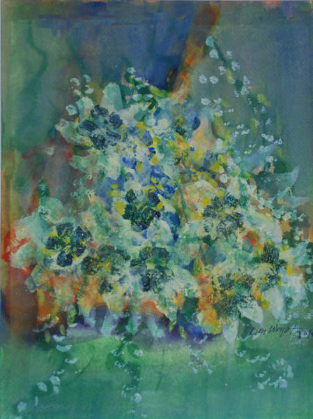 Emanate Painting - Blue Jasmine  by Don  Wright