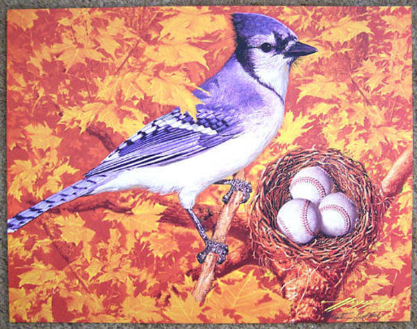Wall Art - Painting - Blue Jays by Frank Hopper