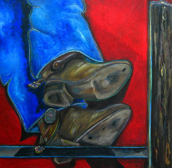 Painting - Blue Jeans And Boots by Patti Schermerhorn