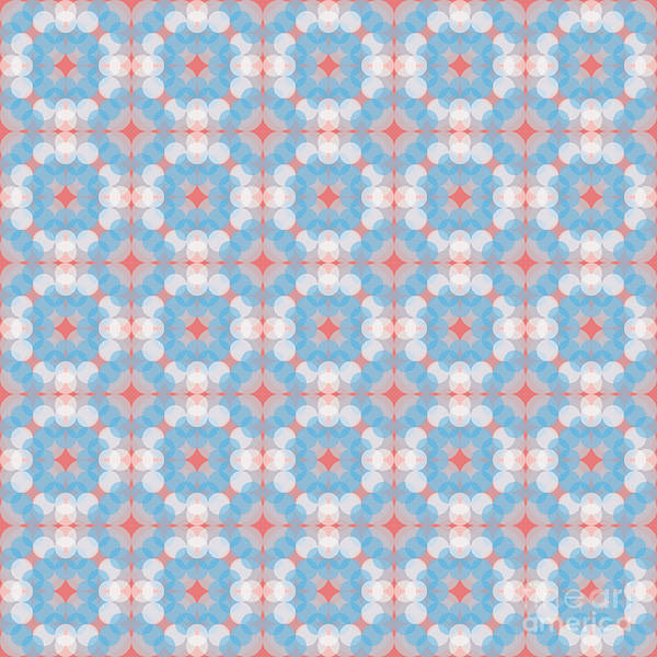 Textura Wall Art - Digital Art - Blue Kaleidoscope Pattern by Studio Textura