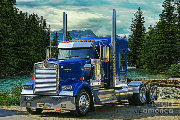Kenworth Photograph - Blue Kenworth At Banff by Randy Harris