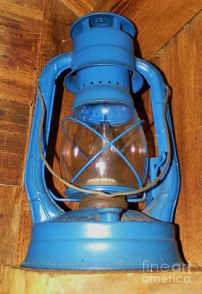Photograph - Blue Kerosene Lamp by D Hackett
