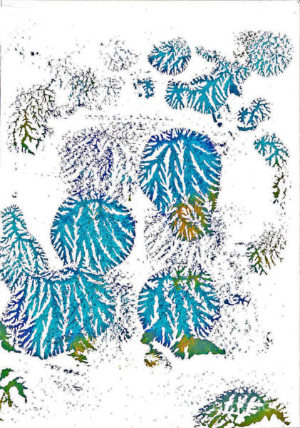 Painting - Blue Kites by Asha Sudhaker Shenoy