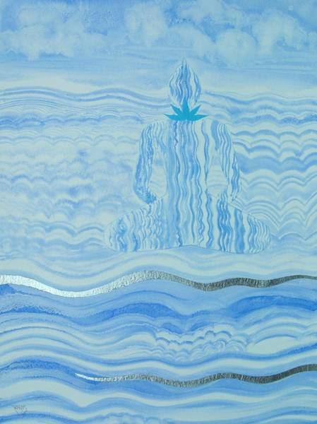 Wall Art - Painting - Blue Lace Agate Throat Chakra by Jennifer Baird