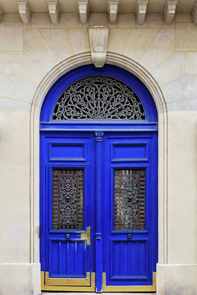 Wall Art - Photograph - Blue Lace Door - Paris, France by Melanie Alexandra Price