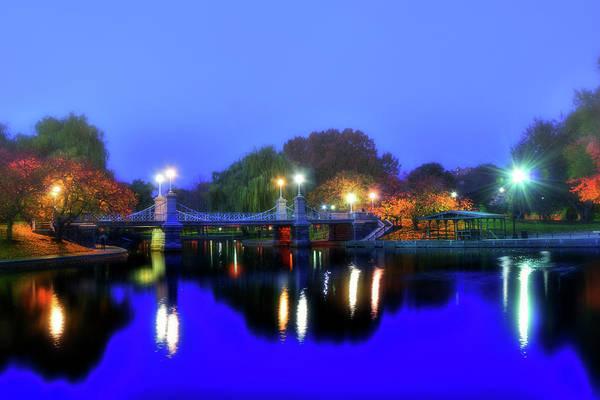 Photograph - Blue Lagoon - Boston Public Garden by Joann Vitali