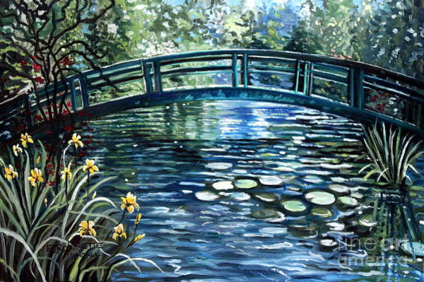 Lilly Pad Painting - Blue Lagoon by Elizabeth Robinette Tyndall