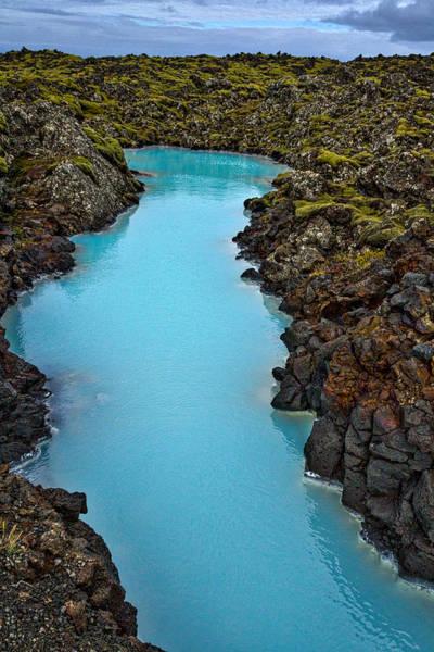 Photograph - Blue Lagoon Landscape #3 - Iceland by Stuart Litoff