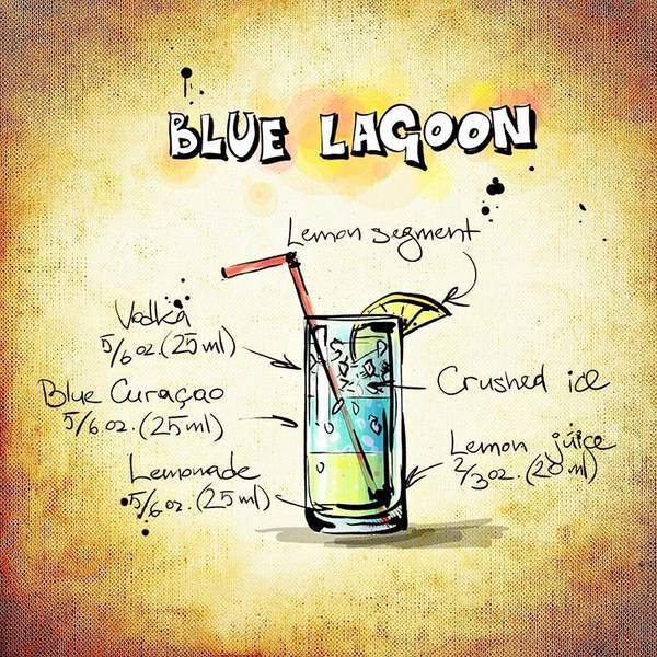 Digital Art - Blue Lagoon  by Movie Poster Prints