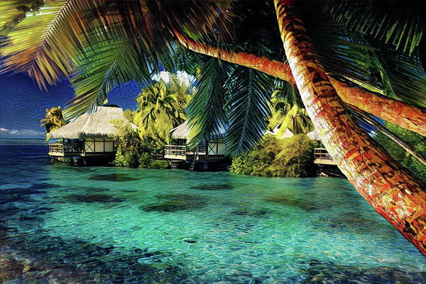 Wall Art - Painting - Blue Lagoon by Russ Harris