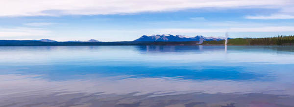 Digital Art - Blue Lake Horizon II by Jon Glaser