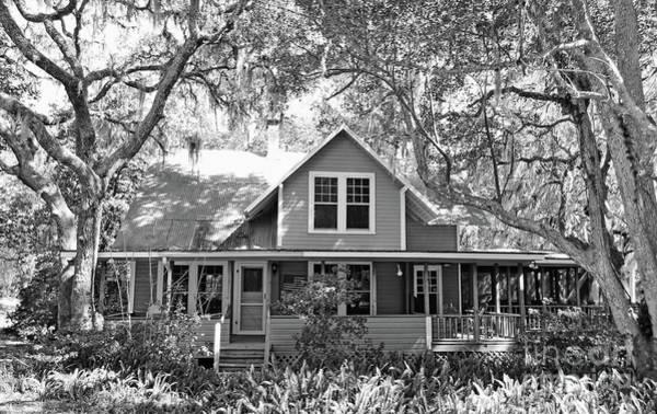 Photograph - Blue Lake House B W by D Hackett