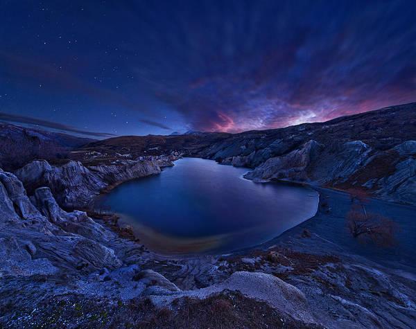 Star Photograph - Blue Lake by Yan Zhang