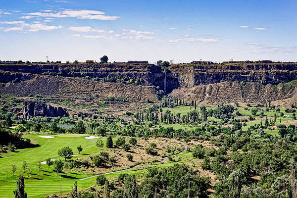Photograph - Blue Lakes Country Club And The Snake River Canyon by Jim Thompson