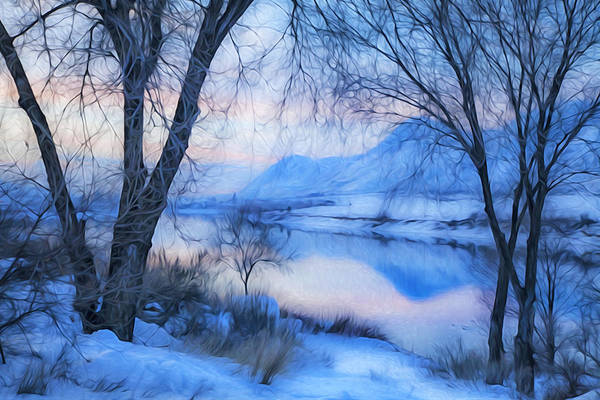 Thompson River Photograph - Blue Landscape by Theresa Tahara