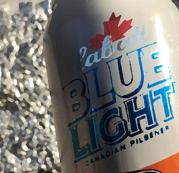Beer Can Digital Art - Blue Light by Josh Tritz
