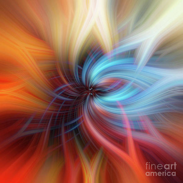 Photograph - Blue Light. Mystery Of Colors by Jenny Rainbow