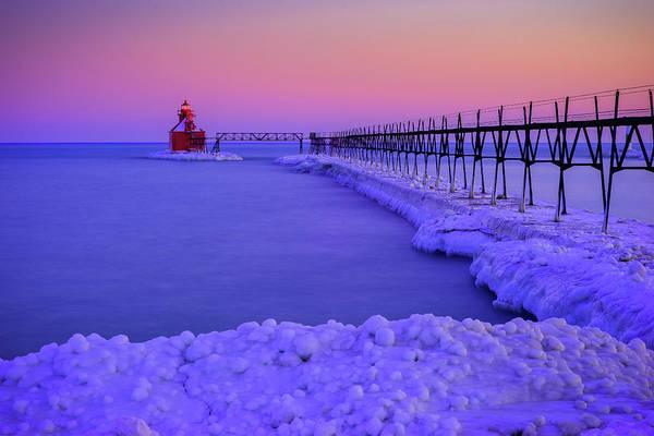 Photograph - Blue Lighthouse by David Heilman