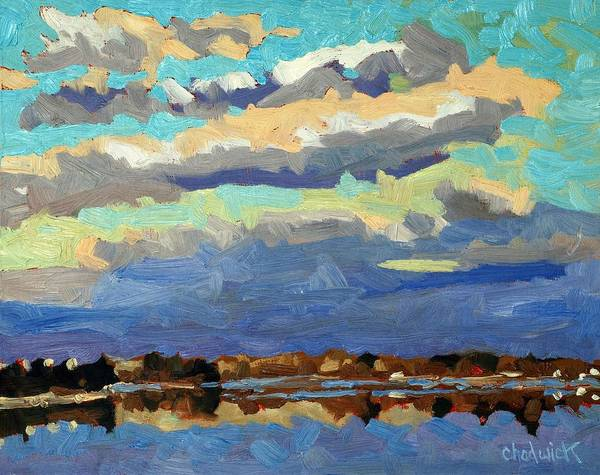 Stratocumulus Painting - Blue Line by Phil Chadwick