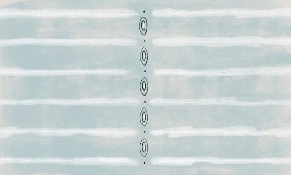 Oval Digital Art - Blue Lines by Kathryn Humphrey