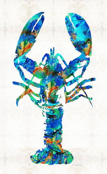 Painting - Blue Lobster Art By Sharon Cummings by Sharon Cummings