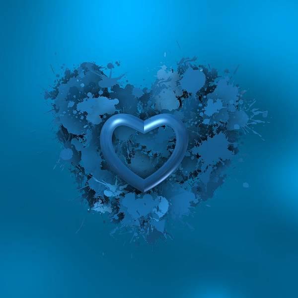 Digital Art - Blue Love 2 by Alberto RuiZ