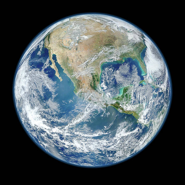 Suomi Photograph - Blue Marble, 2012 by Nasa