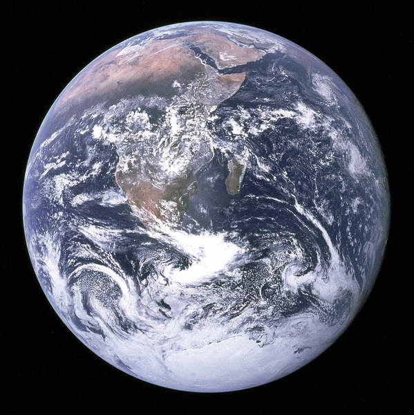 Pale Blue Dot Wall Art - Photograph - Blue Marble - Image Of The Earth From Apollo 17 by Nasa