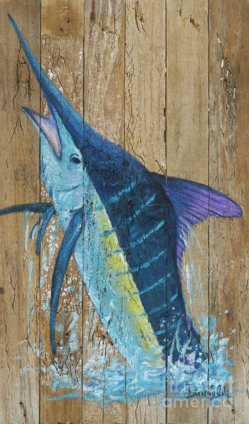 Recycle Painting - Blue Marlin by Danielle Perry