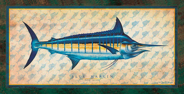 Painting - Blue Marlin by JQ Licensing