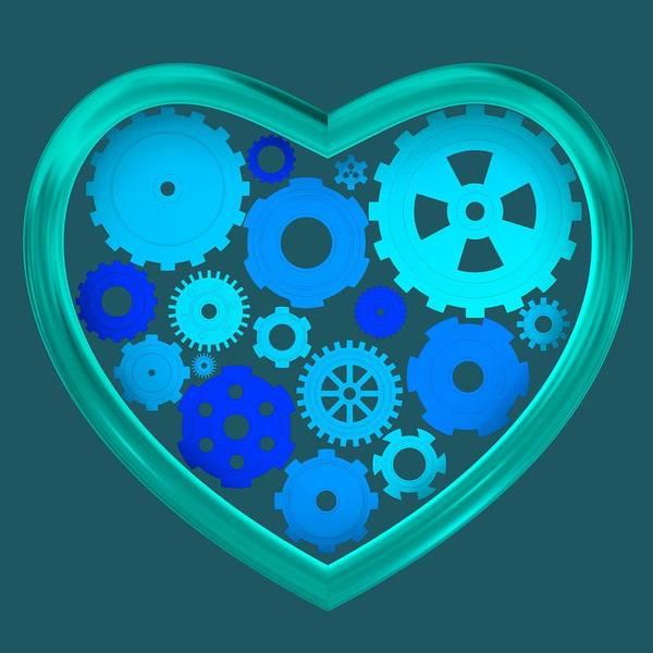 Digital Art - Blue Mechanical Love by Alberto RuiZ