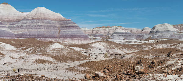 Petrified Forest Photograph - Blue Mesa Pano by Joseph Smith
