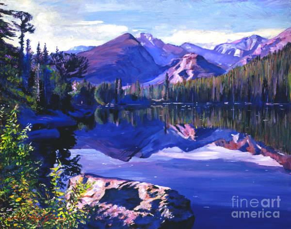Mountain Lake Painting - Blue Mirror Lake by David Lloyd Glover