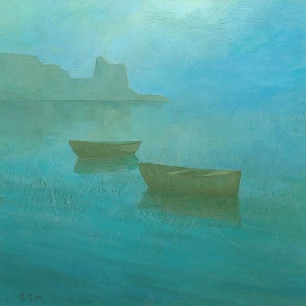 Atmospheric Painting - Blue Mist At Erbalunga by Steve Mitchell