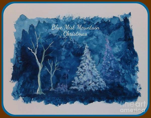 Painting - Blue Mist Mountain Christmas by David Neace