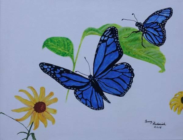 Blue Monarch Art Print