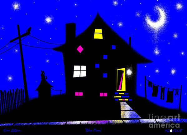 Wall Art - Digital Art - Blue Moon by Cristophers Dream Artistry