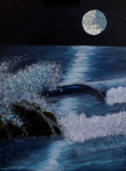Painting - Blue Moon by Davend Dominick