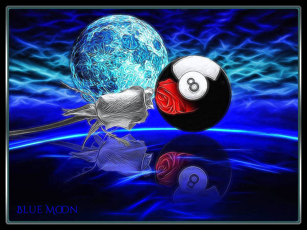Wall Art - Digital Art - Blue Moon by Draw Shots