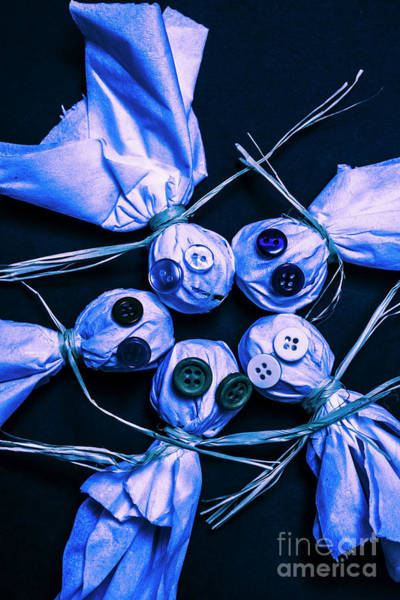 Toy Photograph - Blue Moon Halloween Scarecrows by Jorgo Photography - Wall Art Gallery