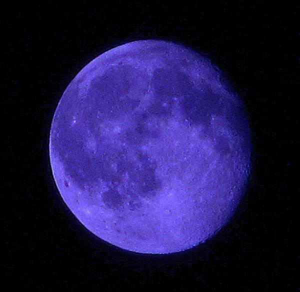 Darkside Photograph - Blue Moon by Joshua Bales