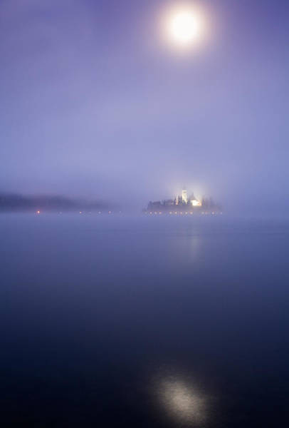Wall Art - Photograph - Blue Moon Over Lake Bled by Ian Middleton