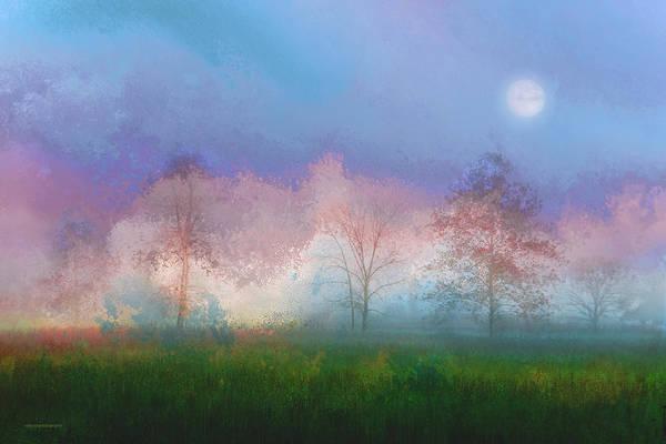 Scenic Digital Art - Blue Moon by Ron Jones