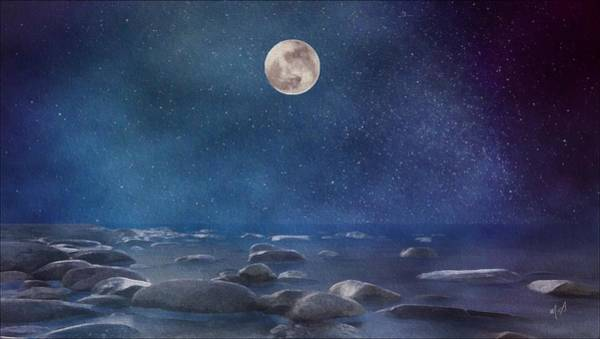 Painting - Blue Moon Seascape by Mark Taylor