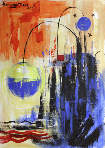 Painting - Blue Moon Sunset by Anthony Falbo